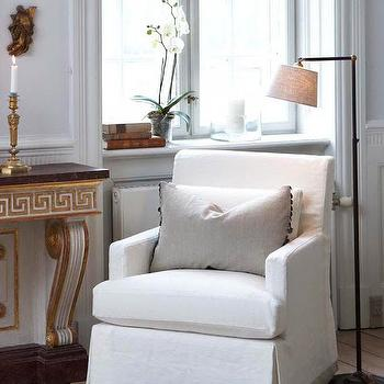 Greek Key Console Table, Transitional, living room, Slettvoll