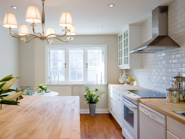 White Kitchen Butcher Block : White Kitchen Cabinets with Butcher Block Countertops - Transitional - kitchen - Jessica Kelly ...