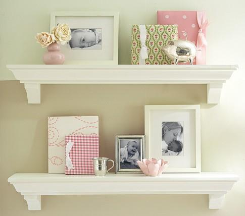 Classic shelving pottery barn kids for Wall shelves kids room