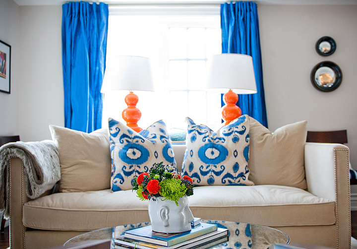orange and blue living room design ideas