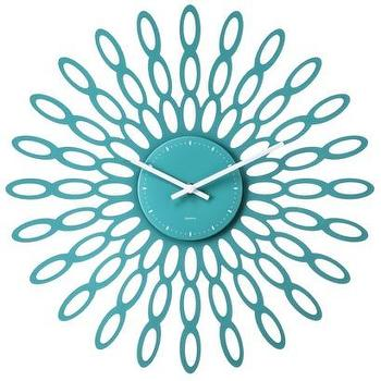threshold modern sunburst wall clock teal i target