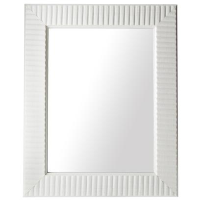 Threshold Rectangular White Wave Mirror