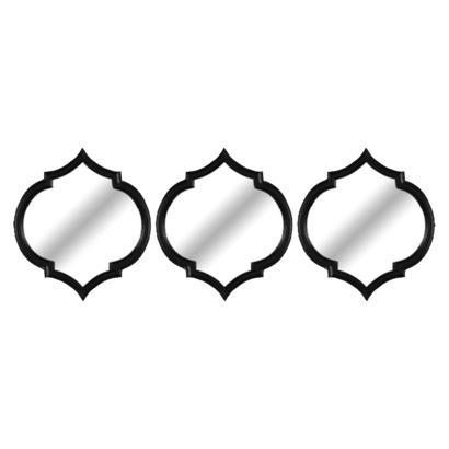 Fantastic Threshold Moroccan Mirror 3 Pack - Black I Target FY29