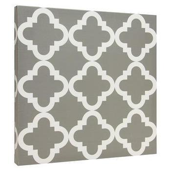 Canvas Tiles, Gray Lattice I Target