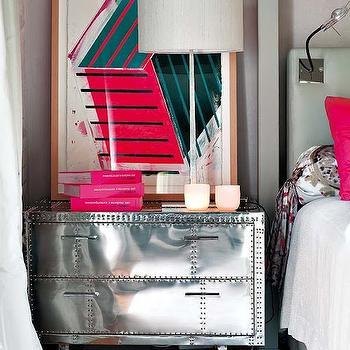 Mirrored Nightstand, Contemporary, bedroom, Nuevo Estilo