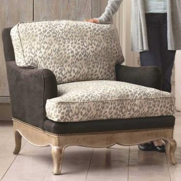 High Quality Leopard Print Eco Upholstered Chair I VivaTerra