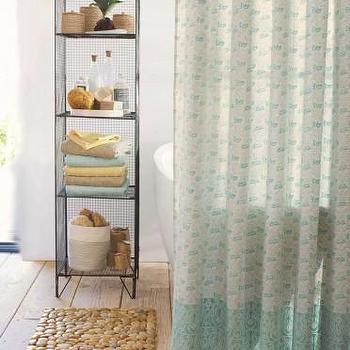 Indian Block Print Shower Curtain I VivaTerra