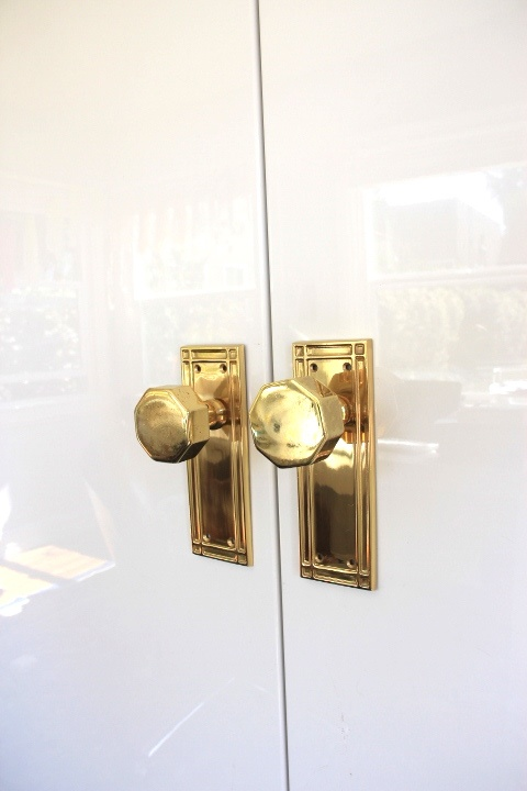 Octagonal Door Knobs - Contemporary - living room - Emily Henderson