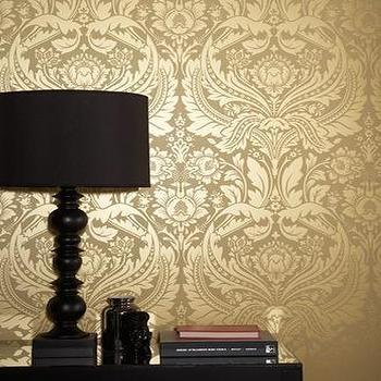 Desire Wallpaper ���?? Gold Wallpaper, Graham & Brown