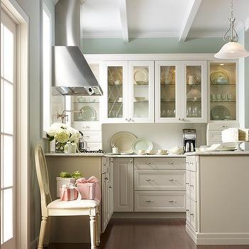 Martha Stewart Kitchen Cabinets, Transitional, kitchen, Glidden Rain Water, Martha Stewart