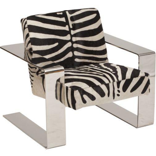 Kayla Zebra Print Wingback Chair I Horchow