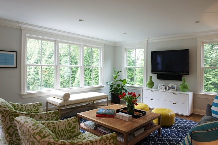 View Full Size Chic Tv Room