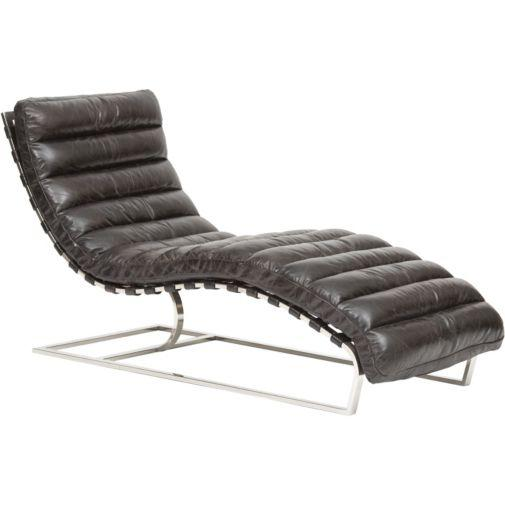 Oviedo Leather Lounge, Ebony I High Fashion Home