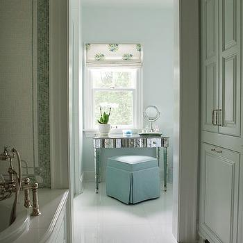 Antiqued Mirrored Vanity, Traditional, bathroom, At Home St Louis