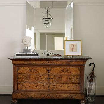 Ogee French Country Distressed Antique Mirror Dresser