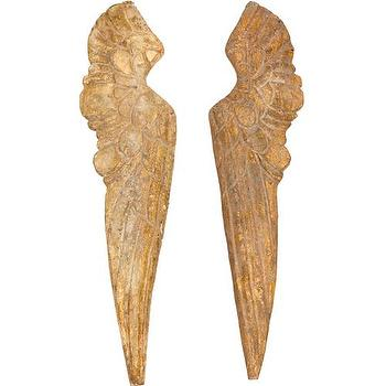 Small Wood Wing Pair I High Fashion Home