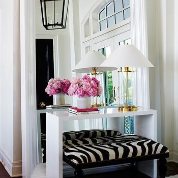 White Lacquer Console, Contemporary, entrance/foyer, Ferreira Design