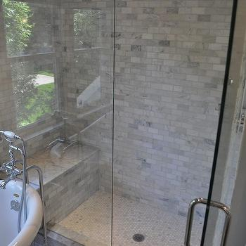 Carrara Marble Shower