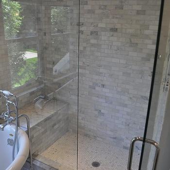 Carrara Marble Shower Surround Design Ideas