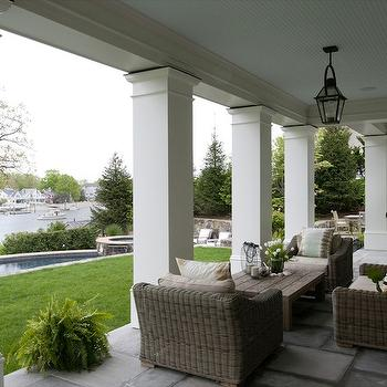 Covered Patio, Transitional, deck/patio, Nightingale Design