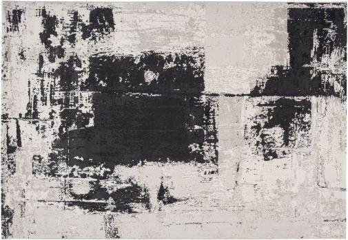 Nuage Abstract Gray Black Rug