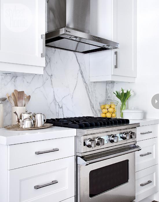 Marble Slab Backsplash Contemporary Kitchen Style At Home