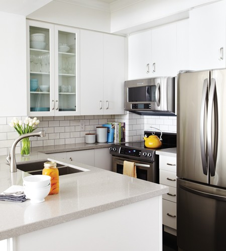 White Kitchen Cabinets With Gray Countertops: Grey Countertops
