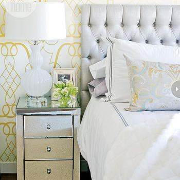 Gray and Yellow Bedroom, Contemporary, bedroom, Style at Home