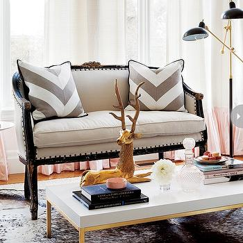 Gray Chevron Pillows, Contemporary, living room, Style at Home