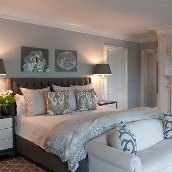 Gray Bedroom, Contemporary, bedroom, Nightingale Design