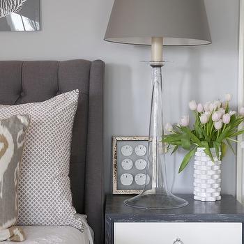 Grey Tufted Headboard, Contemporary, bedroom, Nightingale Design