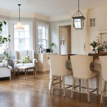 Vintage Grain Sack Chair, Transitional, kitchen, Nightingale Design