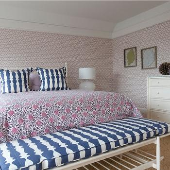Pink and Blue Girl's Room, Transitional, girl's room, Nightingale Design