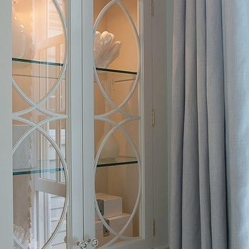 Glass Front Armoire, Transitional, bedroom, Nightingale Design