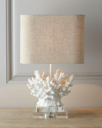 White Coral Lamp I Horchow