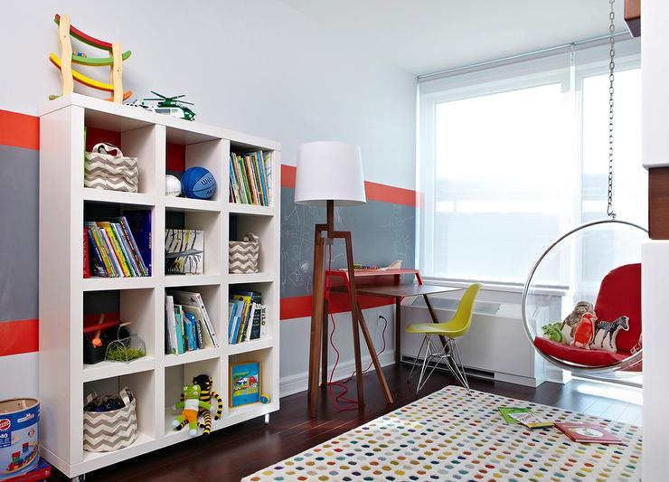 Gray And Red Boy's Room