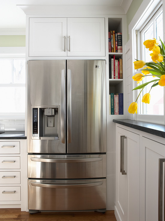 Cabinets over Refrigerator - Traditional - kitchen ...