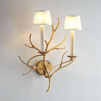 Silver Branch Candle Sconce