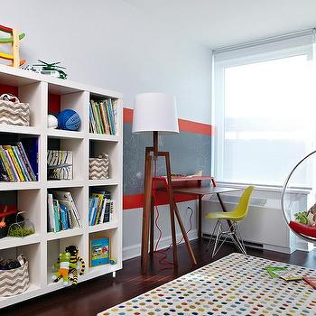 Gray and Red Boy's Room, Modern, boy's room, Chango & Co.
