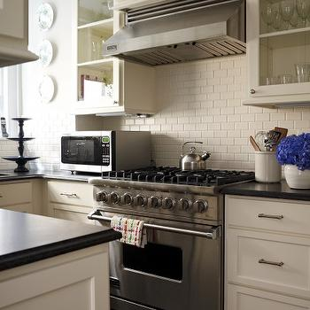 cream subway tile backsplash design ideas