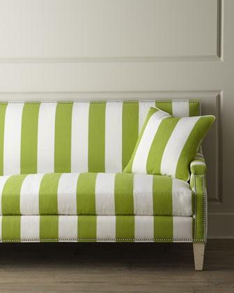 Massoud Appletini Striped Sofa I Horchow