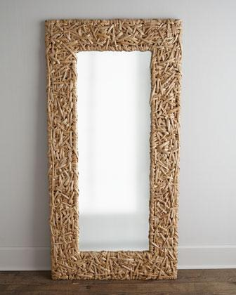 Chevron Tile Floor Mirror