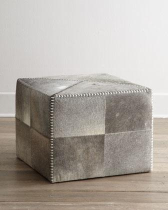 Jamie Young Hobson Hide Ottoman I Horchow