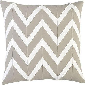 """Chevron Off-White 18"""" Pillow I Crate and Barrel"""