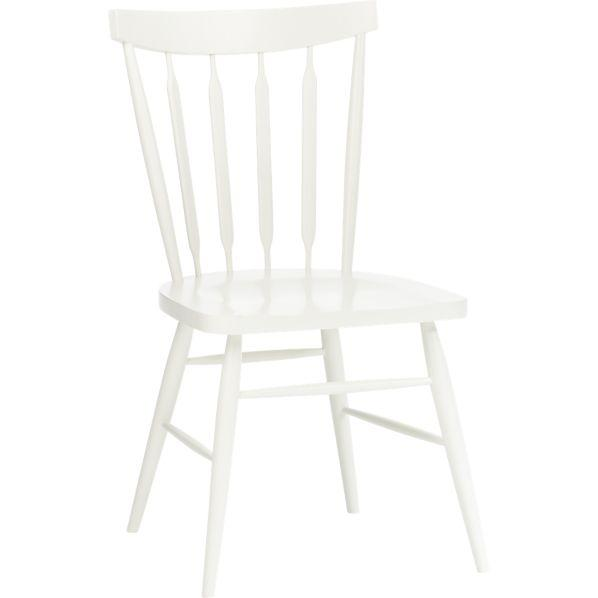 Willa Snow Side Chair Crate And Barrel