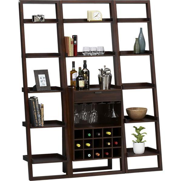 sc 1 st  Decorpad & Sloane Java Leaning Wine Bar I Crate and Barrel