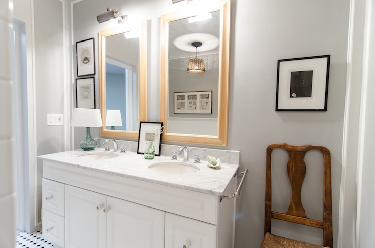 Gray Paint Colors Transitional Bathroom Benjamin