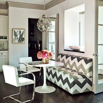 Chevron Banquette Bench, Contemporary, kitchen, Ashley Goforth Design