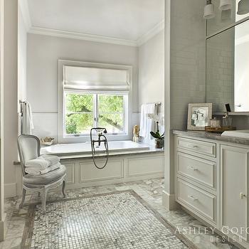 Cream and Gray Bathroom, Transitional, bathroom, Ashley Goforth Design