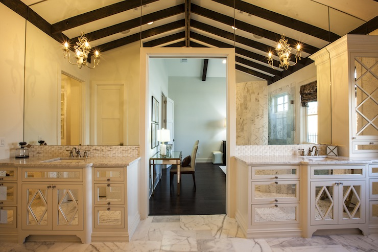 Mirrored Bathroom Vanity. Mirrored Bathroom Vanity   Transitional   bathroom   Southern Living